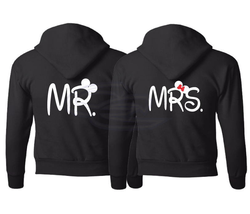 mr and mrs mickey mouse ears with wedding date shirts. Black Bedroom Furniture Sets. Home Design Ideas